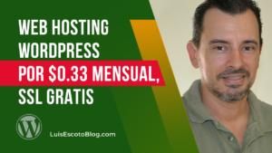 Web Hosting WordPress por US$0.33 Mensual