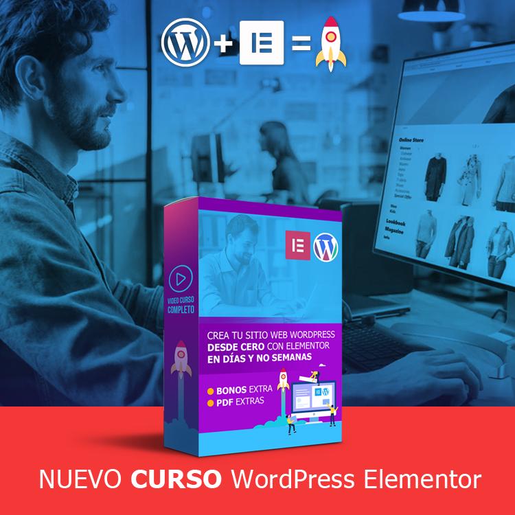 Curso Crea Tu Pagina Web-Con WordPress y Elementor Desde Cero