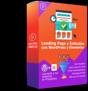 Curso Landing Page y Embudos Con WordPress y Elementor