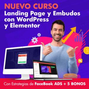 Curso Landing Page Embudos con WordPress y Elementor